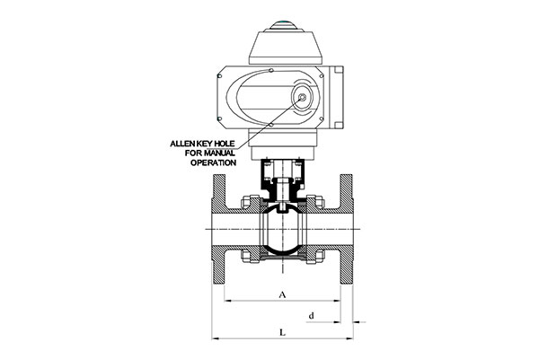 2 way 3 way electrical motorized operated ball valve  '